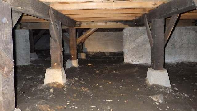 クラシオ 施工実績 床下調湿材敷き込み(ビフォー写真)