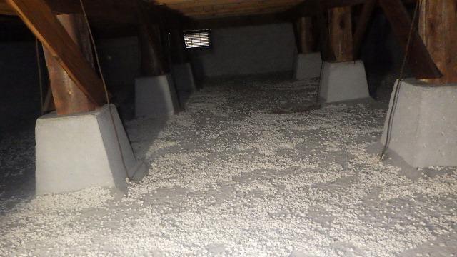 クラシオ 施工実績 水漏れによる水汲み上げ処理、清掃、消毒、予防工事(ビフォー写真)