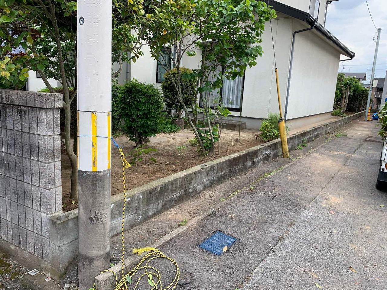 クラシオ 施工実績 熊本市東区T様/フェンス変更工事(ビフォー写真)