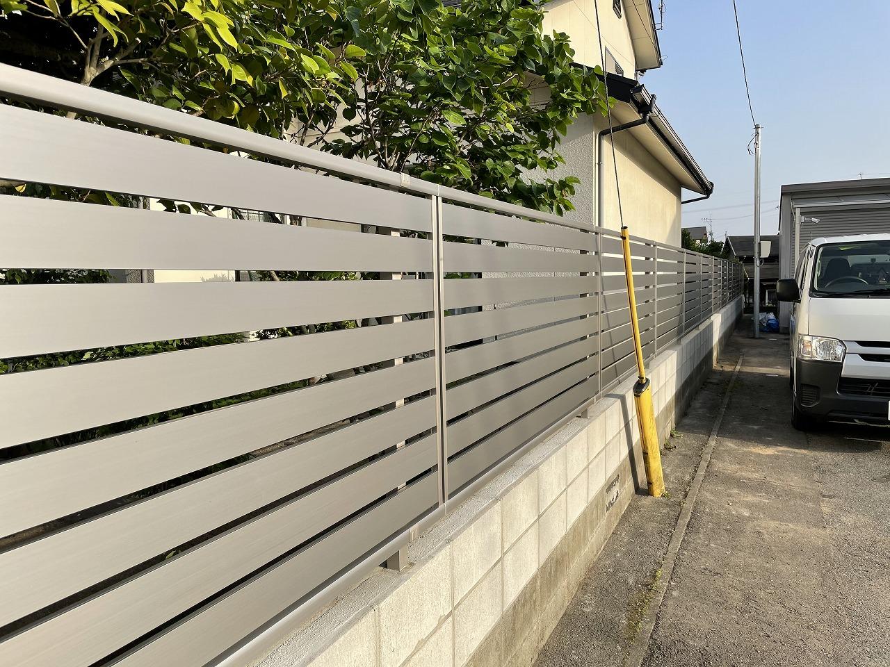 クラシオ 施工実績 熊本市東区T様/フェンス変更工事(アフター写真)