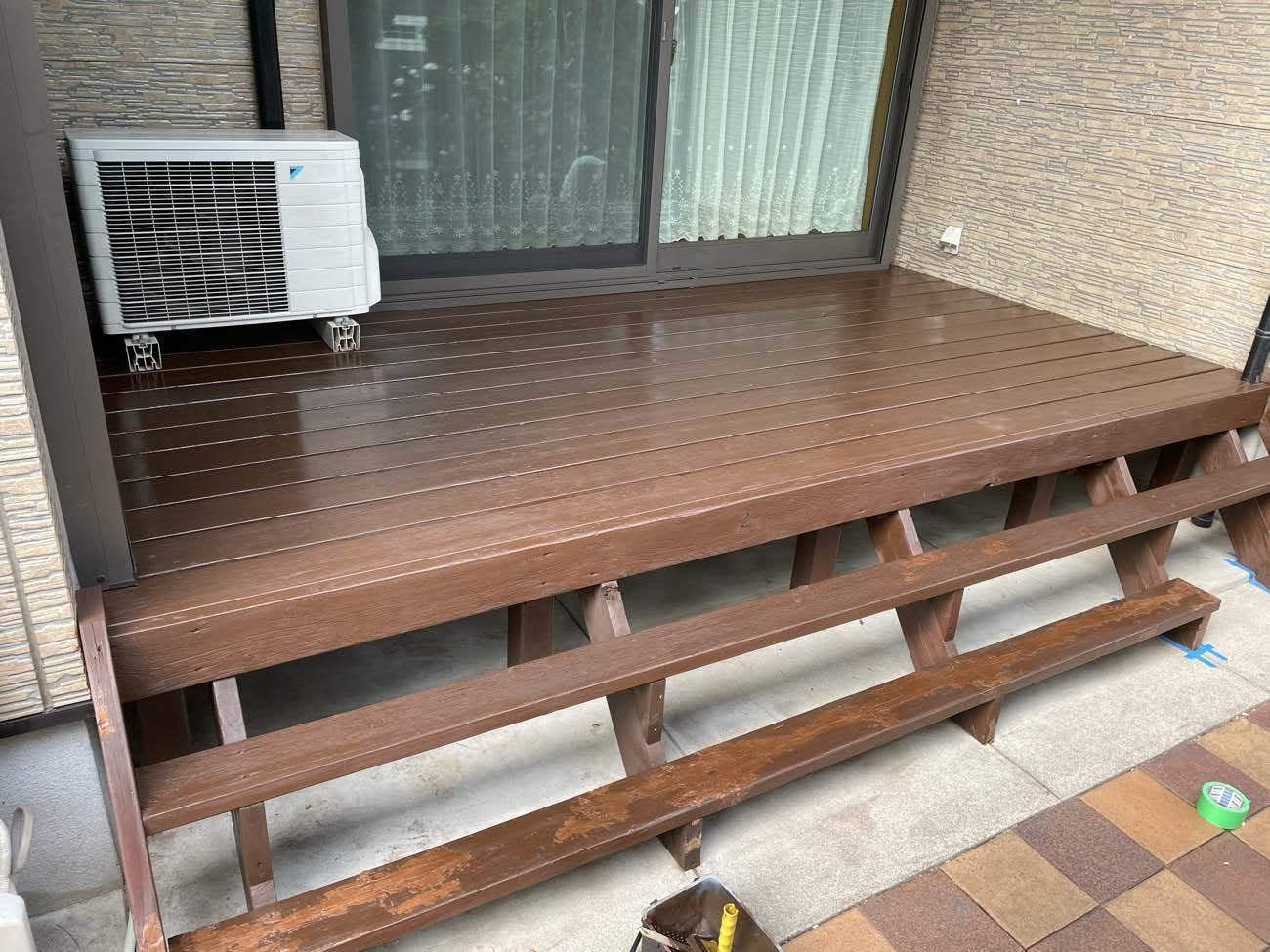 クラシオ 施工実績 ウッドデッキ塗装・シロアリ予防工事(アフター写真)