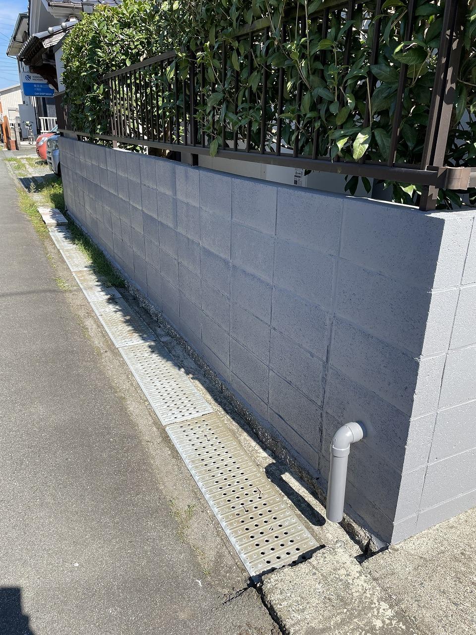 クラシオ 施工実績 熊本市北区M様/ブロック塀洗浄・塗装工事(アフター写真)